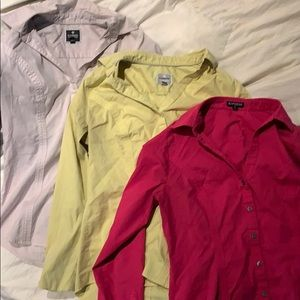 3 express button down shirts